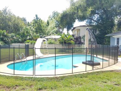Wrap Around Pool Fence in Odessa
